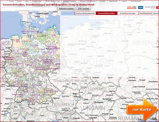 Karte Mit Hausnummern.Energiemarktdaten Interaktive Karte Zur Gasversorgung